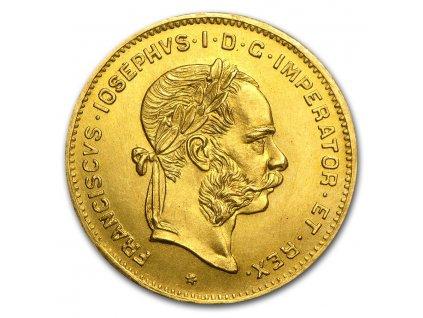 1892 austria gold 4 florin 10 francs franz joseph au 24022 Obv