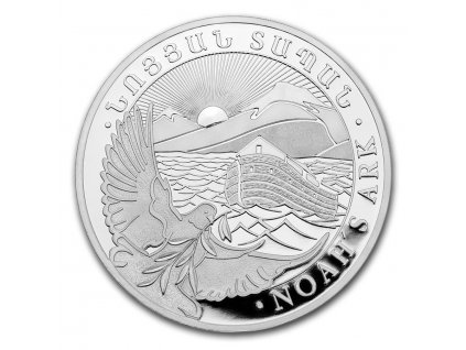 2021 armenia 1 oz silver 500 drams noahs ark bu 218310 obv