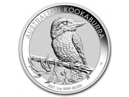 2021 australia 1 oz silver kookaburra bu 218815 slab