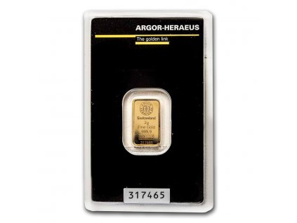 2 gram gold bar argor heraeus in assay 96051 slab