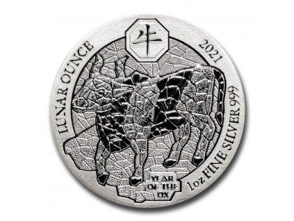 2021 rwanda 1 oz silver lunar year of the ox bu 216480 slab