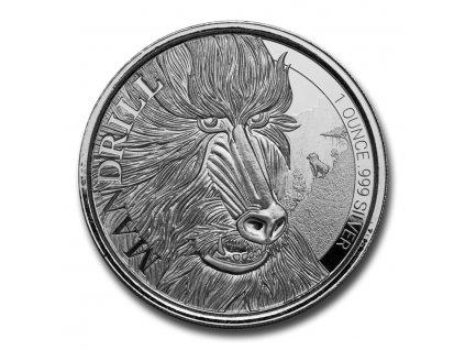 2020 cameroon 1 oz silver mandrill bu 220176 obv