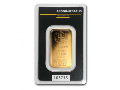 1 oz gold bar argor heraeus kinebar design in assay 67496 Slab