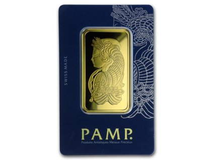 50 gram gold bar pamp suisse fortuna veriscan in assay 98930 Slab