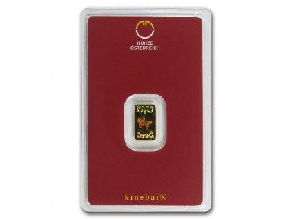 1 gram gold bar austrian mint kinebar design in assay 78373 Slab