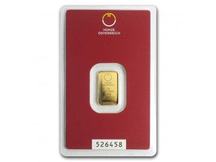 2 gram gold bar austrian mint in assay 78376 Slab
