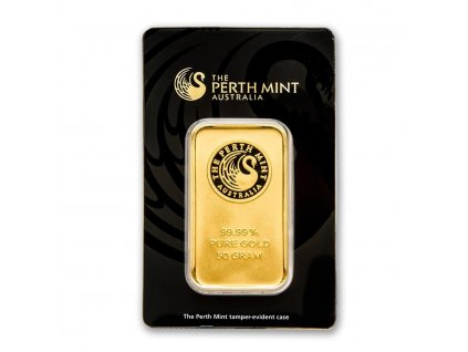 50 gram gold bar the perth mint in assay 78887 Slab