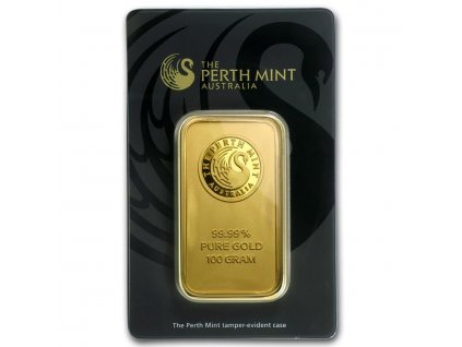 100 gram gold bar the perth mint in assay 78889 slab
