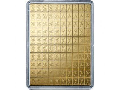 100 x 1 gram gold valcambi combibar in assay 85612 Obv