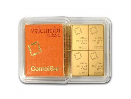 10 x 1 10 oz gold valcambi combibar in assay 83827 Rev