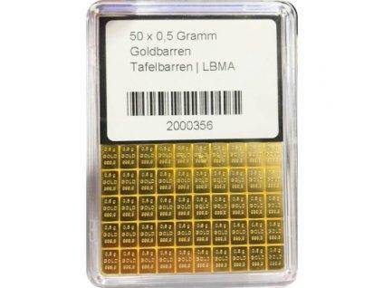 50 x 0.5 gramm gold tafelbarren
