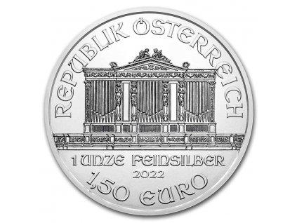 2021 austria 1 oz silver philharmonic bu 224745 obv