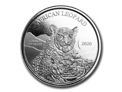 2020 republic of ghana 1 oz silver 5 cedi african leopard bu 224013 obv