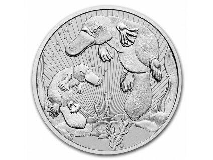 2021 australia 2 oz silver platypus bu piedfort 232071 slab