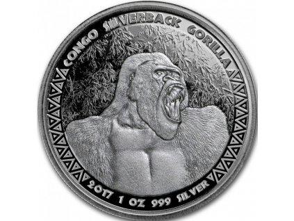 1 oz silver gorilla congo 2017
