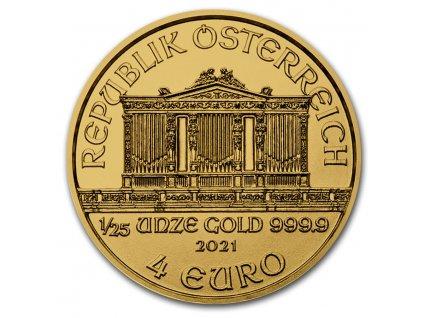 2021 austria 1 25 oz gold philharmonic bu 224796 obv