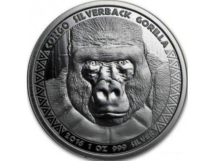 1 oz silver gorilla congo 2016