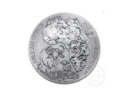1 oz silver rwanda buffalo 2015