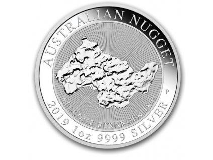2019 australia 1oz silver welcome stranger nugget coin(2)