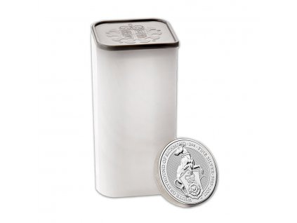 2021 great britain 2 oz silver queens beasts the white greyhound 217700 rev