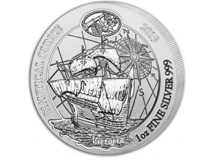 2019 rwanda 1 oz silver nautical ounce victoria bu 172115 Obv