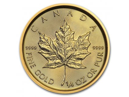 2021 canada 1 4 oz gold maple leaf bu 224958 slab