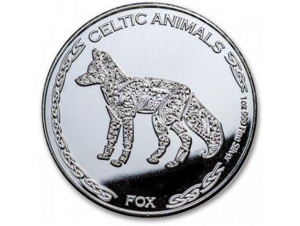 chad 1 oz silver celtic animals 2019 fox cfa500