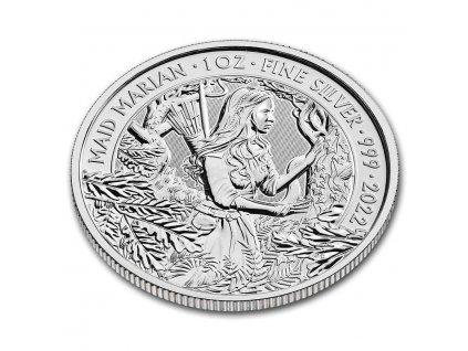 2021 great britain 1 oz silver myths and legends robin hood bu 229930 rev