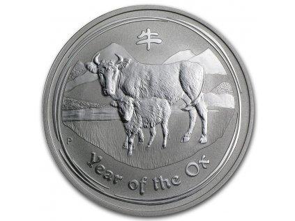 2009 australia 1 oz silver year of the ox bu series ii 43884 Obv