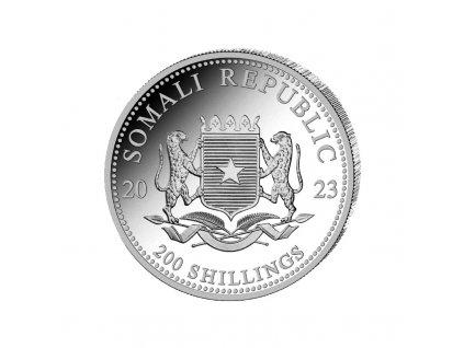 2 oz silver elephant 2021 somalia 200 shillings