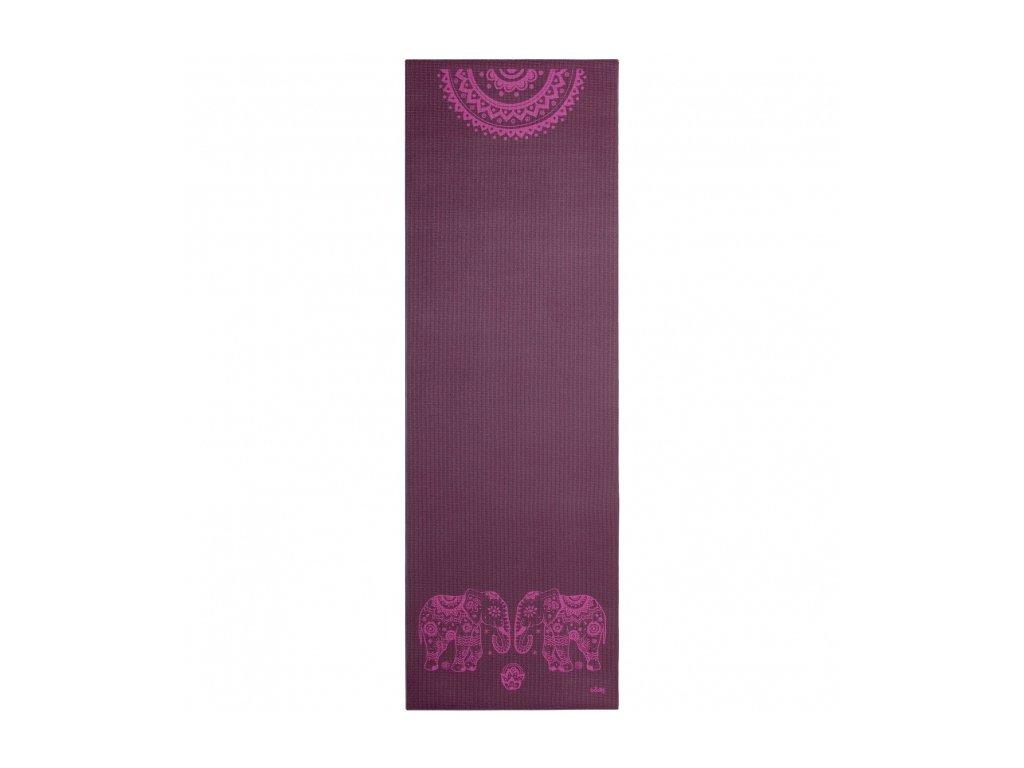 896ae yoga leela yogamatte elephants mandala 183 x 60 cm 4 mm pvc aubergine