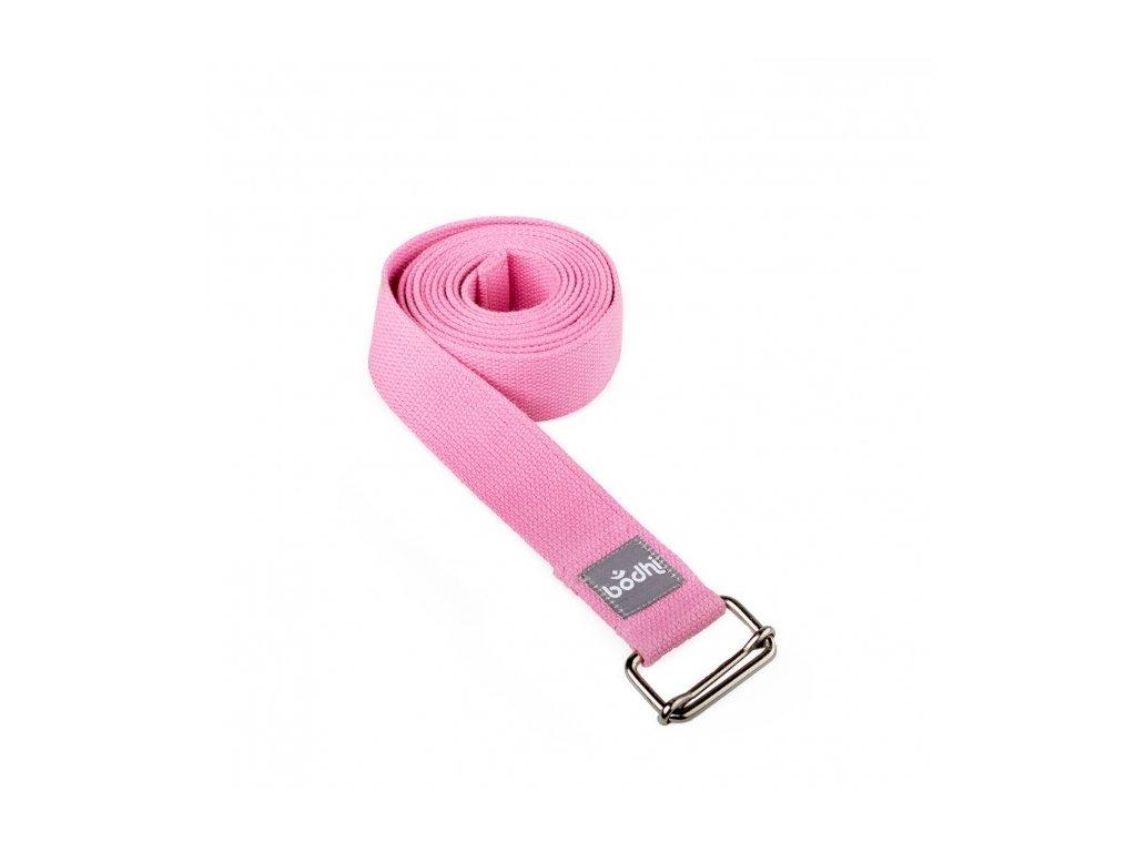 910sp yoga yogagurt asana belt 2 5 m schiebeschnalle pink gerollt