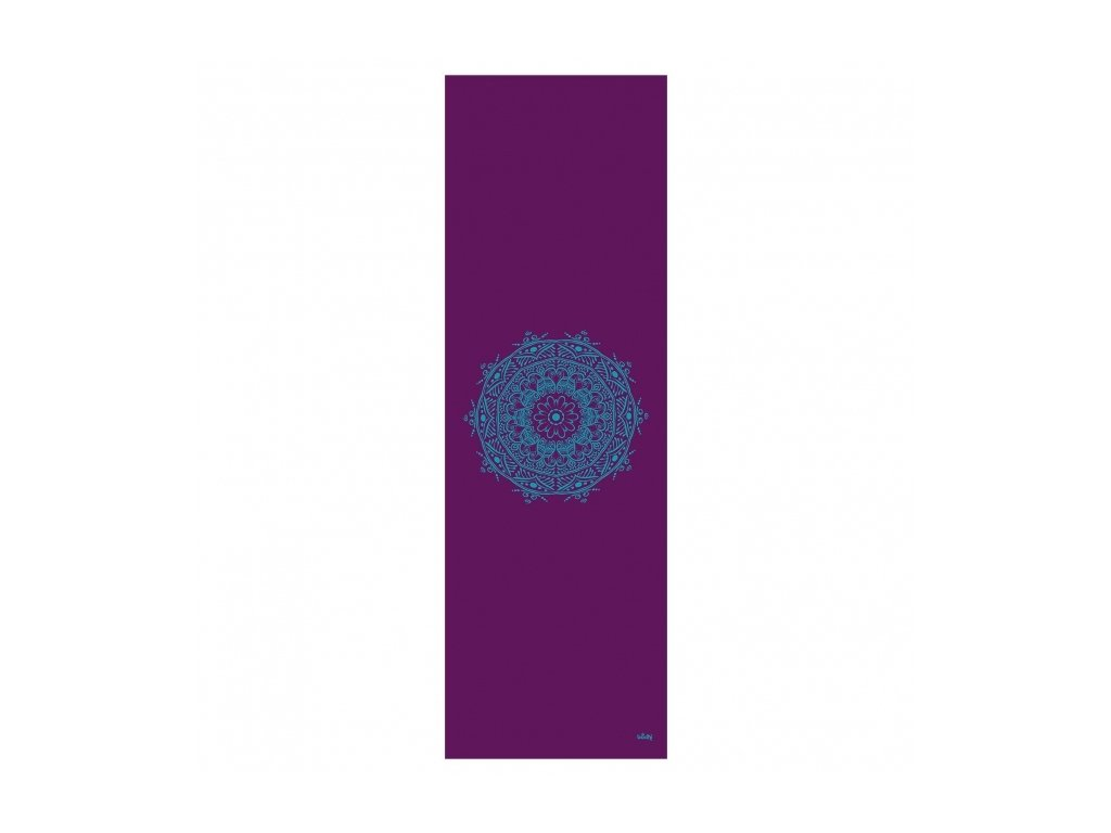 896ma yoga leela yogamatte print mandala aubergine