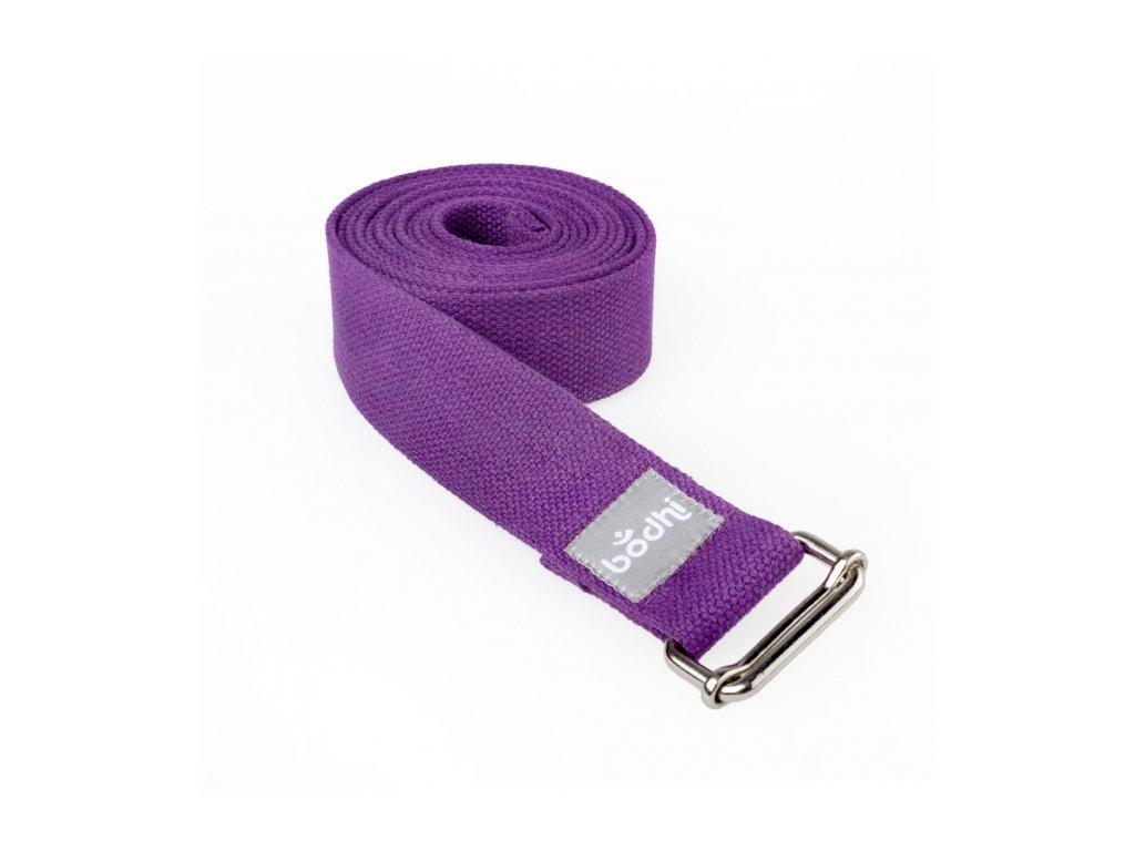 910sl yoga yogagurt asana belt 2 5 m schiebeschnalle gerollt lila