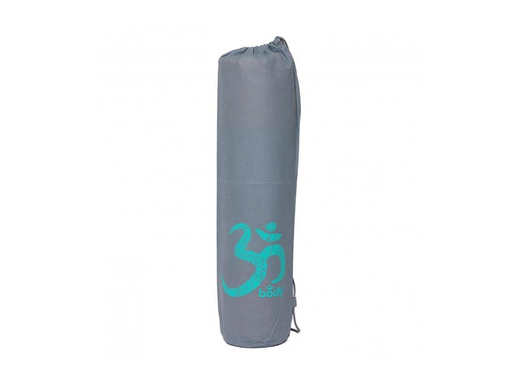 919go yoga easy bag yogamattentasche grau mit om tuerkis