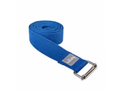 910sb 2 yoga yogagurt asana belt 2 5 m schiebeschnalle gerollt blau 2