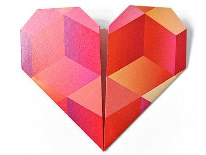 origami srden pn doteky erven nadace srdcervi z1
