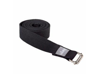 910ss yoga yogagurt asana belt 2 5 m schiebeschnalle gerollt schwarz