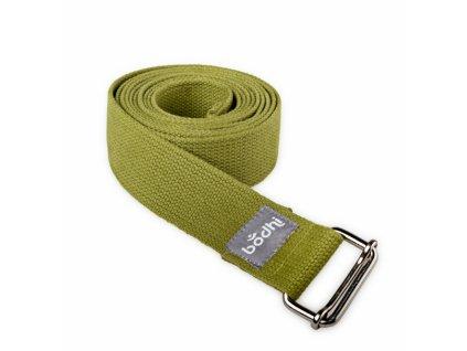 910so yoga yogagurt asana belt 2 5 m schiebeschnalle gerollt olive