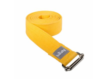 910sg yoga yogagurt asana belt 2 5 m schiebeschnalle gerollt safran