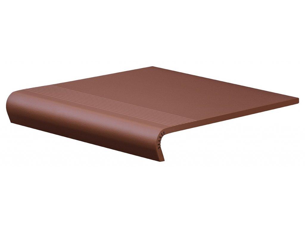 Keramická dlažba Cerrad Burgund Schodovka V-Shape 32x30 cm