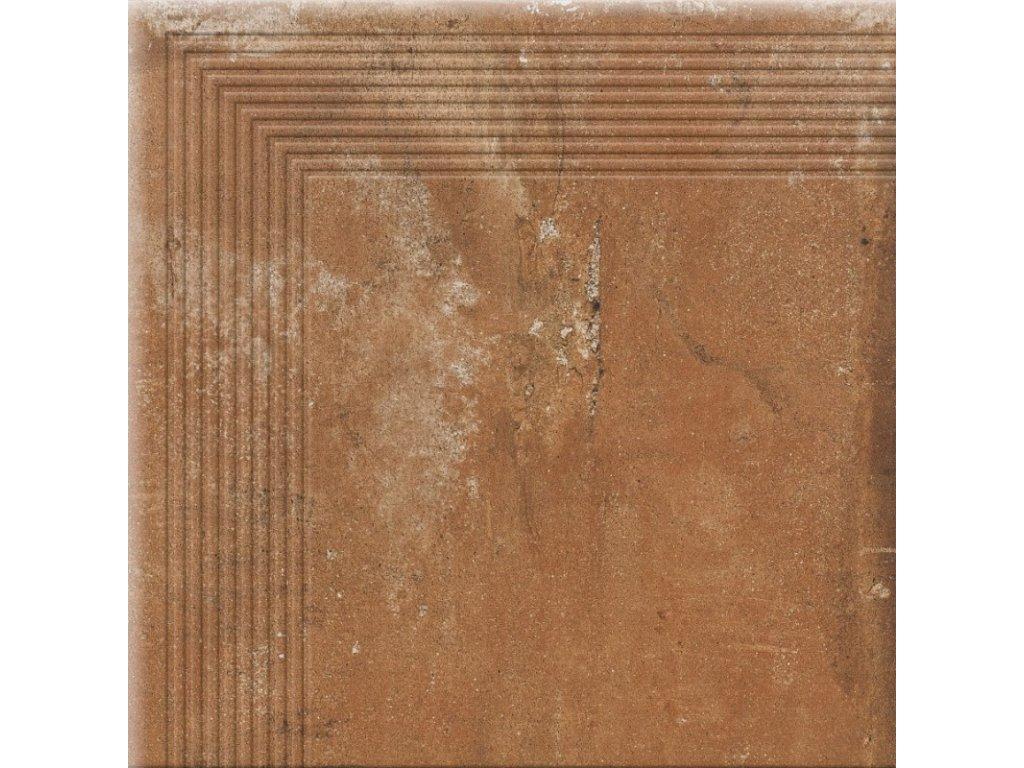 Keramická dlažba Cerrad Piatto Terra schodovka rohová