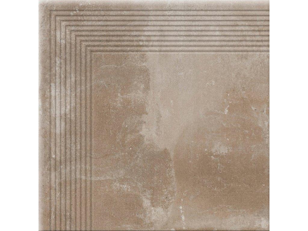 Keramická dlažba Cerrad Piatto Sand schodovka rohová