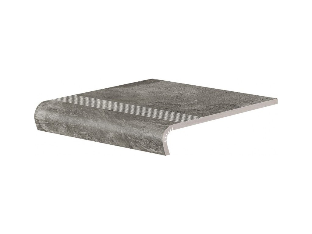 Keramická Dlažba Cerrad Piatto Antracyt Schodovka V-Shape 32x30 cm