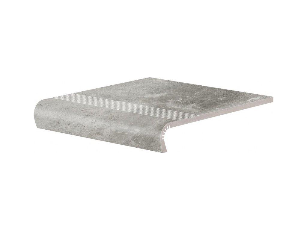 Keramická Dlažba Cerrad Piatto Gris Schodovka V-Shape 32x30 cm