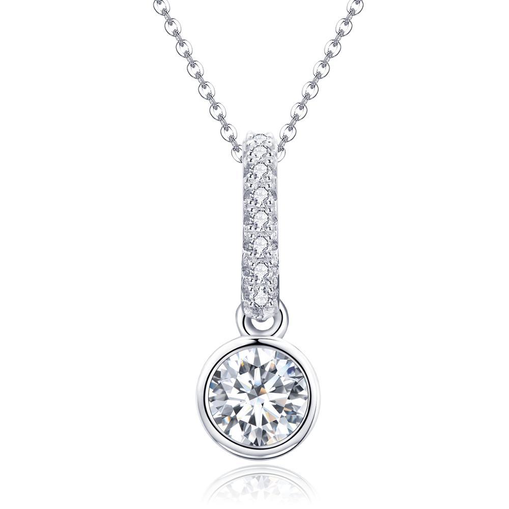 Stříbrný náhrdelník se zirkony Shiny Eye