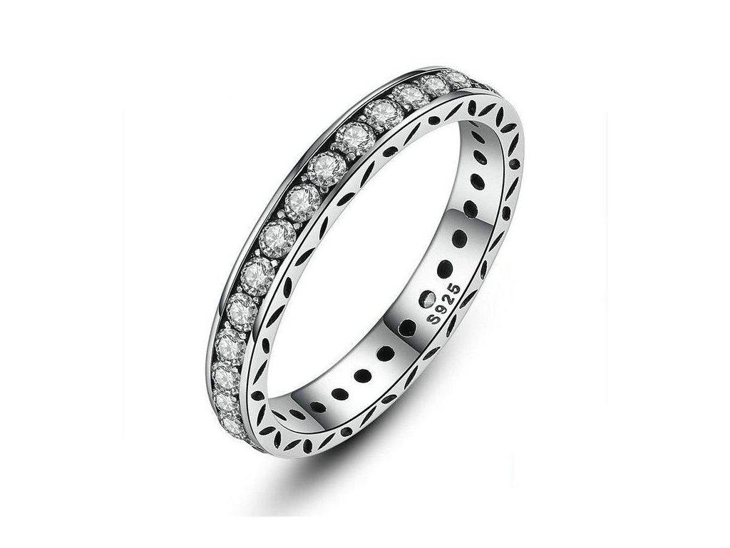 shiny stribrny prsten stylovy
