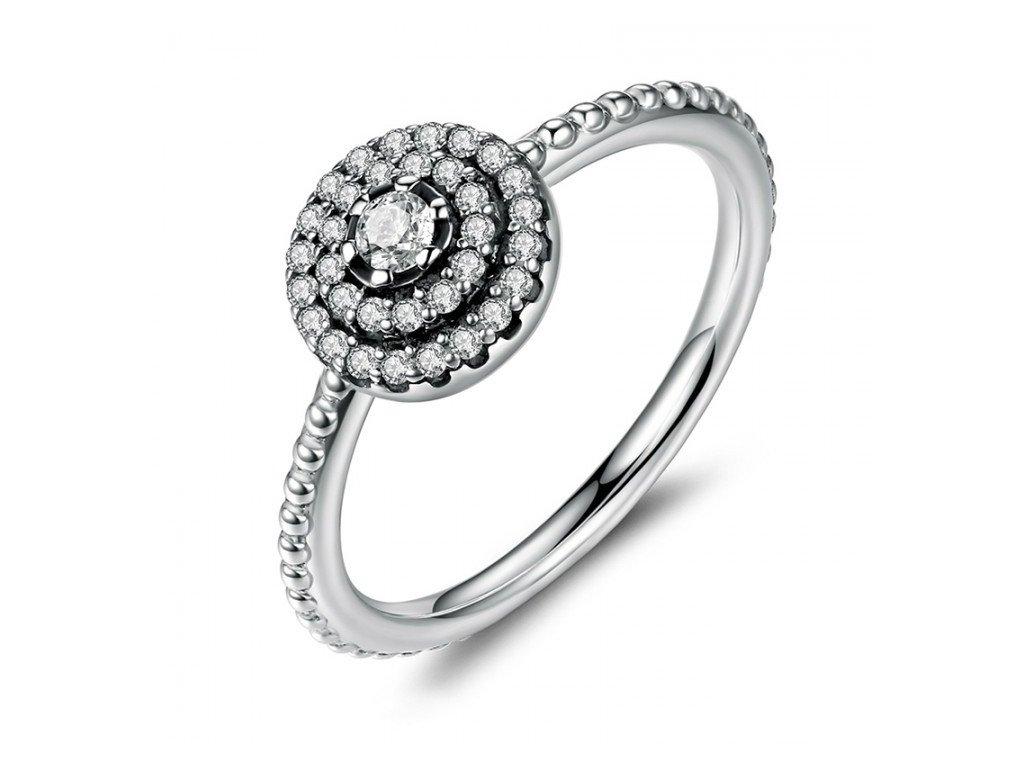 Stříbrný prsten elegance