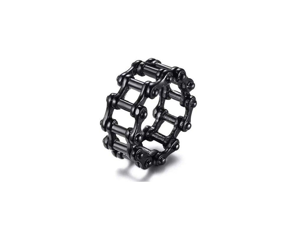 prsten-biker-chain-black-chirurgicka-ocel