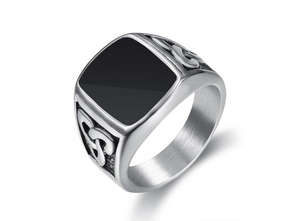 prsten-triquetra-cerny-chirurgicka-ocel